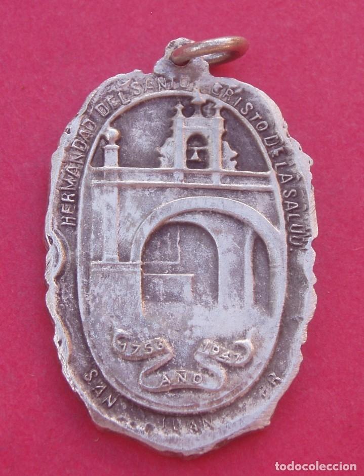 Antigüedades: Medalla Antigua HermSanto Cristo de la Salud en la Iglesia de San Juan. Puerto Rico. Año 1753 - 1947 - Foto 2 - 175630943