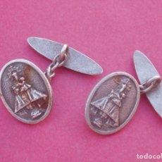 Antigüedades: GEMELOS ANTIGUOS DE LA VIRGEN DE COVADONGA. ASTURIAS.. Lote 175631567