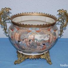 Antigüedades: CENTRO SATSUMA BASE EN BRONCE. Lote 175662765