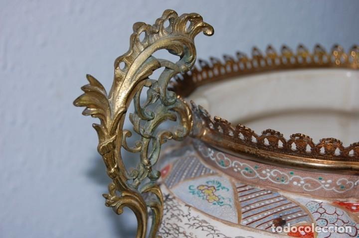 Antigüedades: CENTRO SATSUMA BASE EN BRONCE - Foto 4 - 175662765