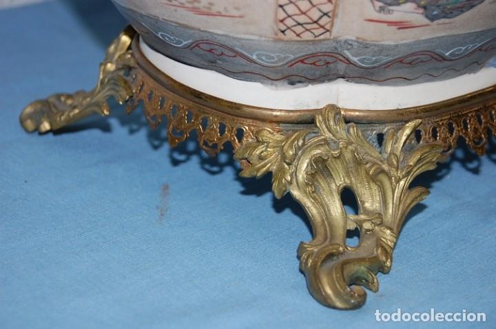 Antigüedades: CENTRO SATSUMA BASE EN BRONCE - Foto 5 - 175662765