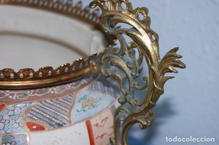 Antigüedades: CENTRO SATSUMA BASE EN BRONCE - Foto 6 - 175662765