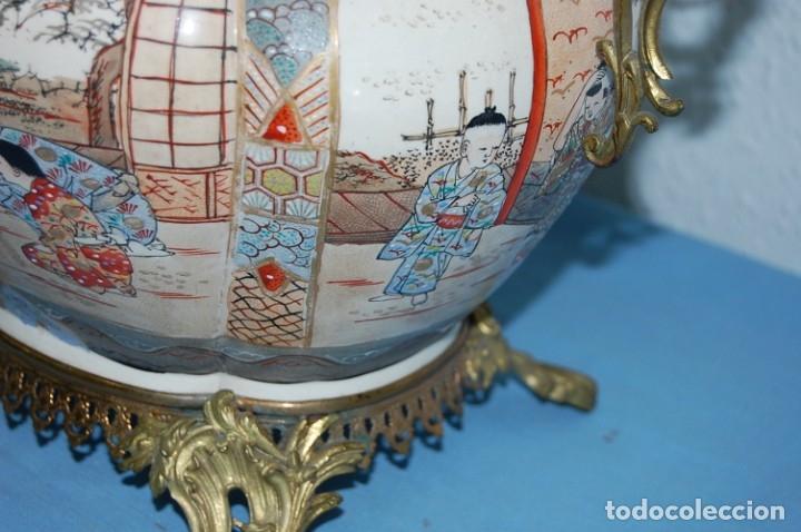 Antigüedades: CENTRO SATSUMA BASE EN BRONCE - Foto 7 - 175662765