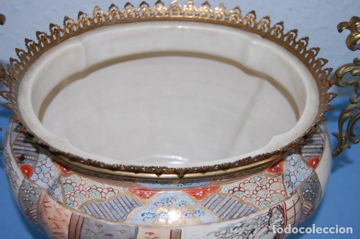 Antigüedades: CENTRO SATSUMA BASE EN BRONCE - Foto 8 - 175662765