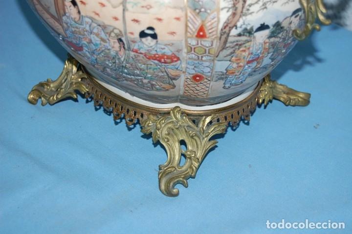 Antigüedades: CENTRO SATSUMA BASE EN BRONCE - Foto 11 - 175662765