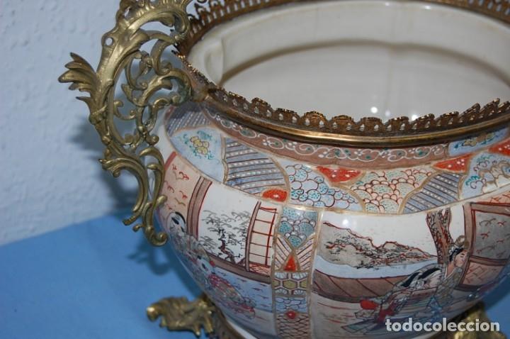 Antigüedades: CENTRO SATSUMA BASE EN BRONCE - Foto 12 - 175662765