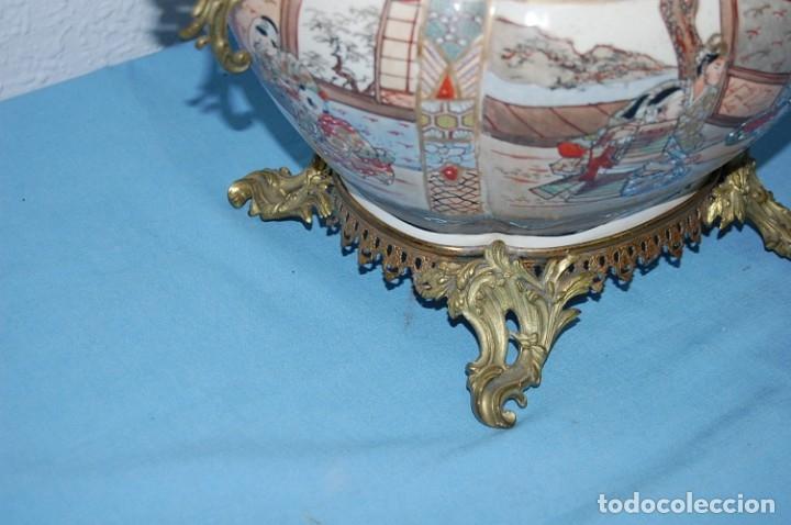 Antigüedades: CENTRO SATSUMA BASE EN BRONCE - Foto 13 - 175662765