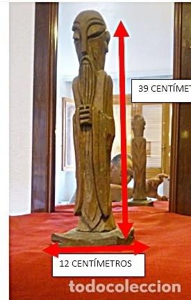 ESCULTURA EN MADERA AÑOS 70 VER VIDEO (Antigüedades - Hogar y Decoración - Figuras Antiguas)