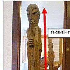 Antigüedades: ESCULTURA EN MADERA AÑOS 70 VER VIDEO. Lote 175664353