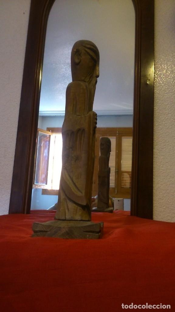Antigüedades: ESCULTURA EN MADERA AÑOS 70 VER VIDEO - Foto 2 - 175664353