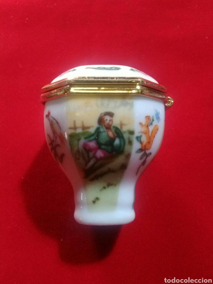 Antigüedades: Cajita de porcelana. Miniatura.Joyero. - Foto 3 - 175665699