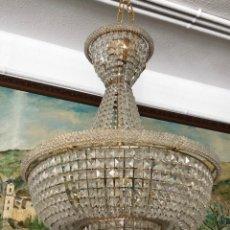 Antigüedades: LAMPARA TECHO CRISTAL GRANDE. Lote 175667403