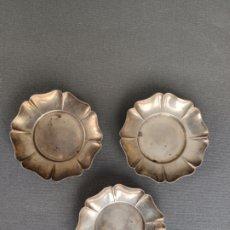 Antigüedades: 3 PEQUEÑOS PLATOS DE PLATA CONTRASTADA , SIAM 925 PERU . Lote 175675930