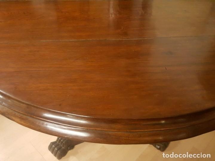 Antigüedades: Mesa de comedor colonial inglesa con tablero redondo. - Foto 4 - 175678077