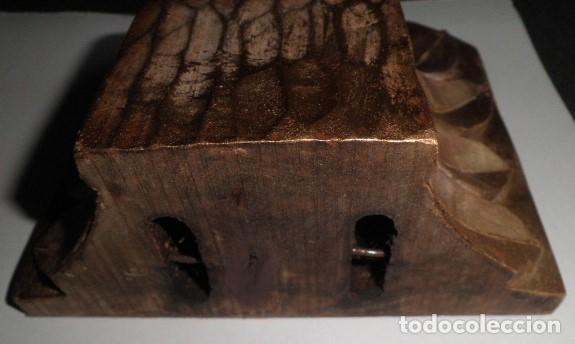 Antigüedades: MÉNSULA O PEANA ANTIGUA DE MADERA NOBLE AL ORO FINO - Foto 4 - 175678653