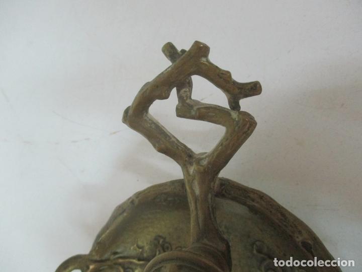 Antigüedades: Bandeja, Quemador. Incensario - Candelabro - Bronce Cincelado - Motivos Orientales - Foto 7 - 175683993