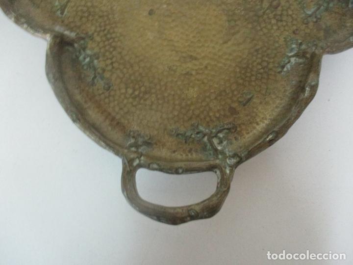 Antigüedades: Bandeja, Quemador. Incensario - Candelabro - Bronce Cincelado - Motivos Orientales - Foto 20 - 175683993