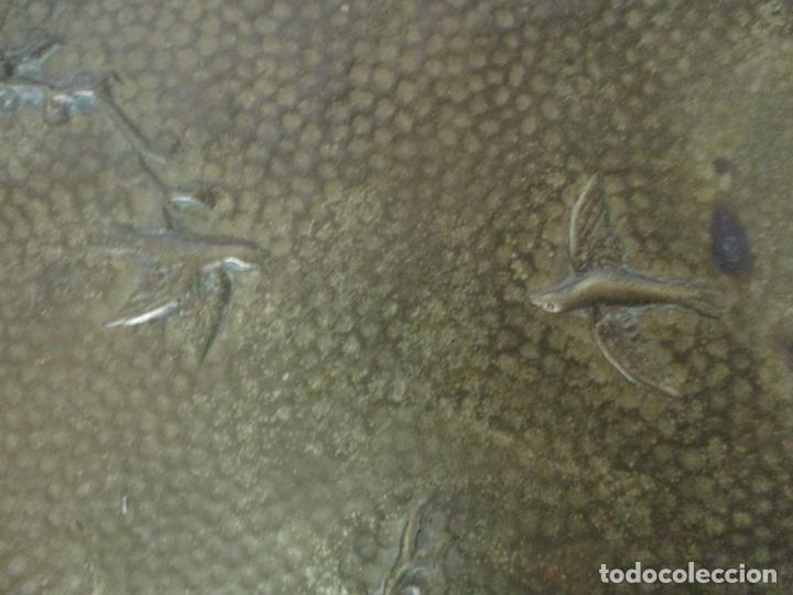 Antigüedades: Bandeja, Quemador. Incensario - Candelabro - Bronce Cincelado - Motivos Orientales - Foto 21 - 175683993