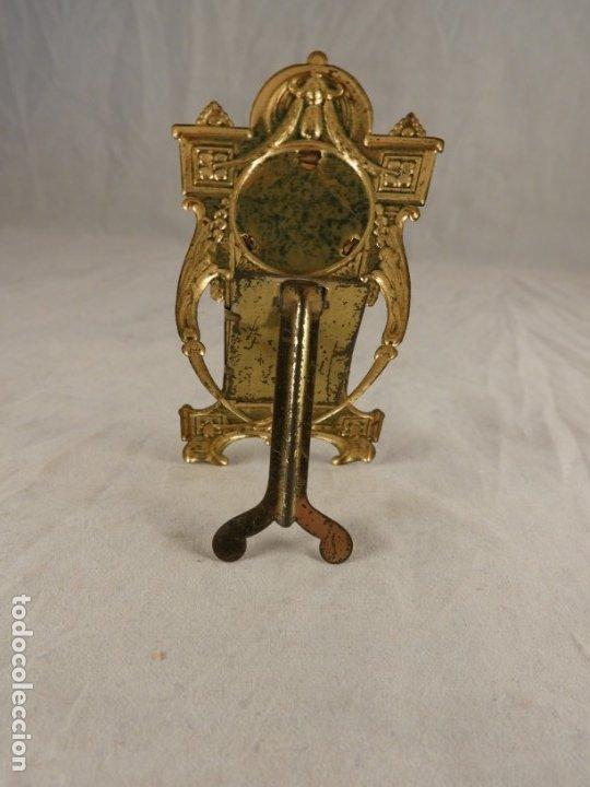 Antigüedades: IMAGEN DE SAN ANTONIO EN METAL DORADO ART NOUVEAU DE SOBREMESA - Foto 4 - 175709777