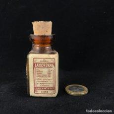 Antigüedades: ANTIGUO FRASCO DEL MEDICAMENTO LAXOFENAS SIN CONTENIDO. Lote 175710147