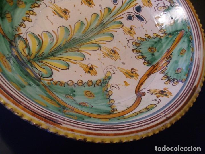Antigüedades: ROTUNDO Y GRAN PLATO CERÁMICA DE PUENTE DEL ARZOBISPO XVIII – XIX - Foto 5 - 175713999