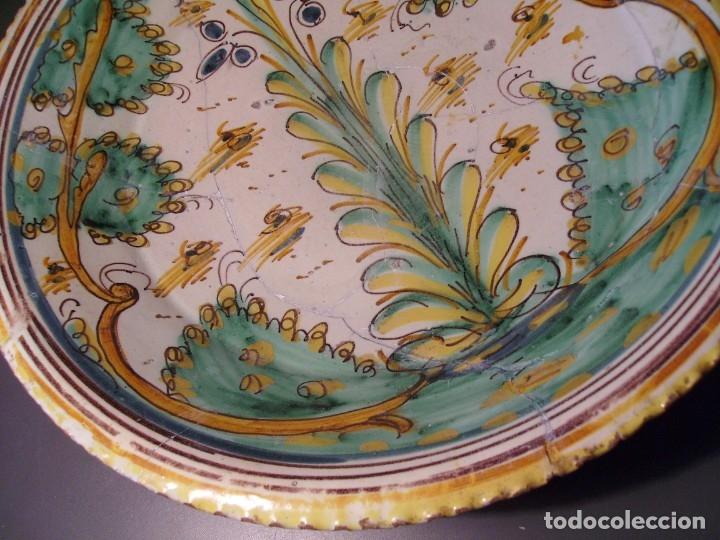 Antigüedades: ROTUNDO Y GRAN PLATO CERÁMICA DE PUENTE DEL ARZOBISPO XVIII – XIX - Foto 6 - 175713999