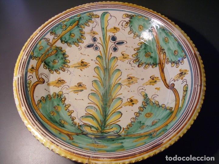 Antigüedades: ROTUNDO Y GRAN PLATO CERÁMICA DE PUENTE DEL ARZOBISPO XVIII – XIX - Foto 7 - 175713999