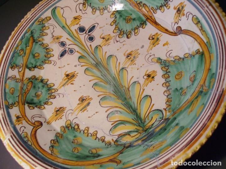 Antigüedades: ROTUNDO Y GRAN PLATO CERÁMICA DE PUENTE DEL ARZOBISPO XVIII – XIX - Foto 10 - 175713999