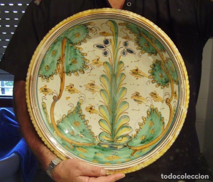 Antigüedades: ROTUNDO Y GRAN PLATO CERÁMICA DE PUENTE DEL ARZOBISPO XVIII – XIX - Foto 13 - 175713999