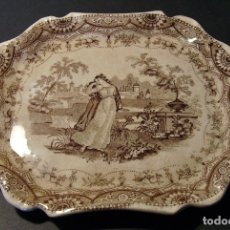 Antigüedades: BANDEJA PORCELANA DE SARGADELOS ( 3ª EPOCA 1845 – 1862) . Lote 175714137