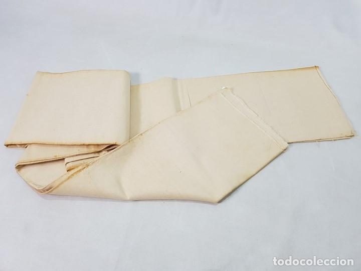 ANTIGUO TEJIDO LINO FINO (Antigüedades - Moda - Otros)