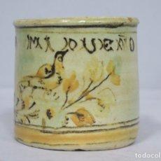 Antiquités: ANTIGUO POCILLO DE CERAMICA. PUENTE DEL ARZOBISPO. VIVA MI DUEÑO. AÑOS 20-30. Lote 175715594