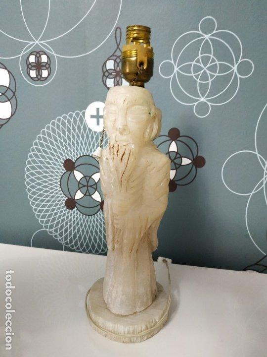 Antigüedades: Lampara de pie de alabastro - Foto 2 - 175723037