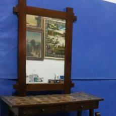 Antigüedades: DORMITORIO RÚSTICO 4 PIEZAS. Lote 175735378