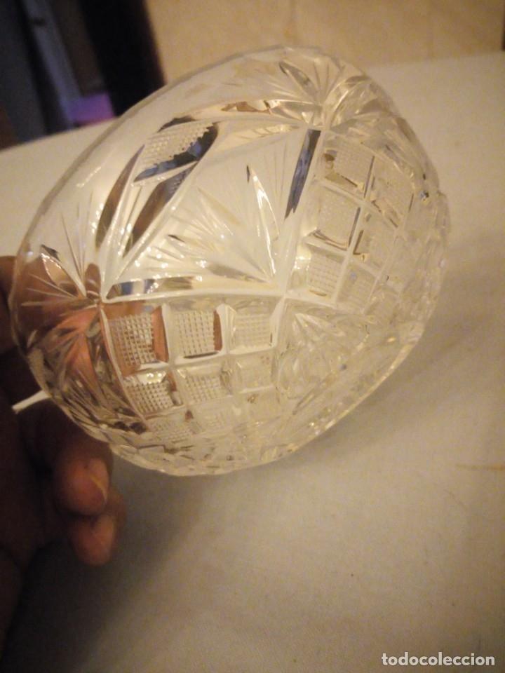 Antigüedades: Bonito bol de aperitivos de cristal de bohemia tallado. república checa - Foto 3 - 175737435