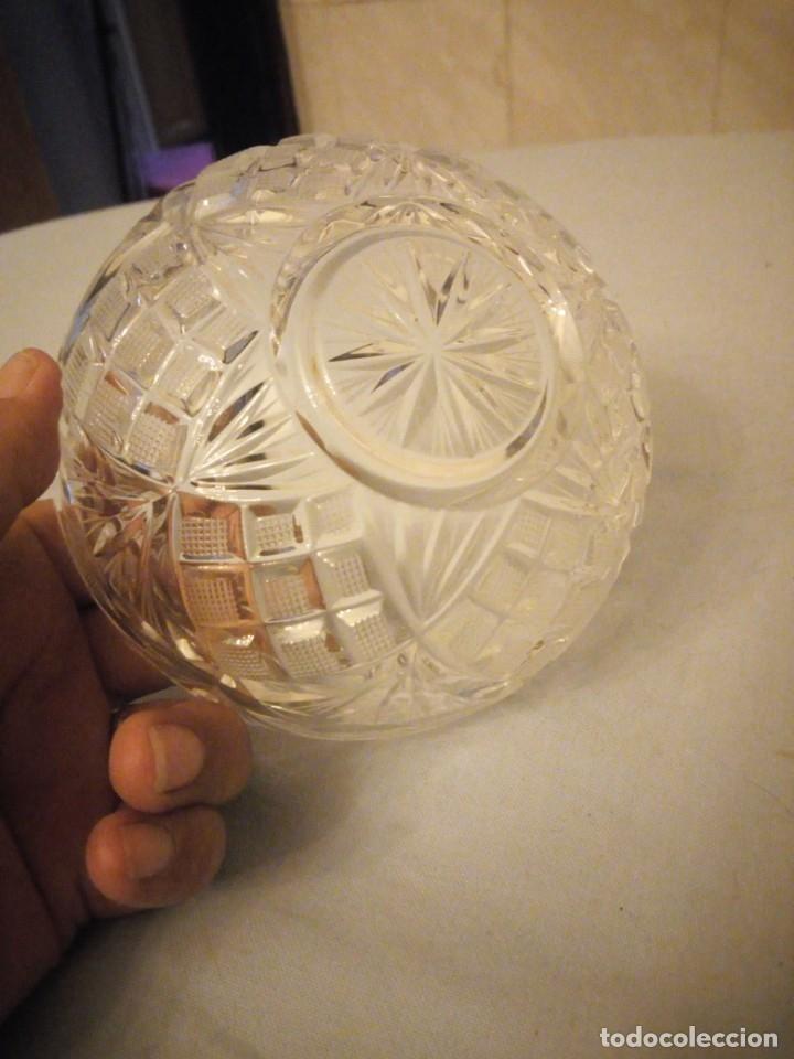 Antigüedades: Bonito bol de aperitivos de cristal de bohemia tallado. república checa - Foto 4 - 175737435