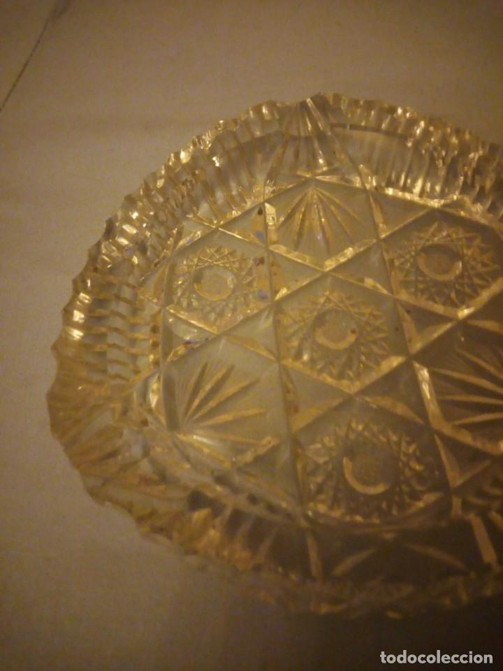 Antigüedades: Precioso cenicero de cristal de bohemia tallado. república checa - Foto 3 - 175737484