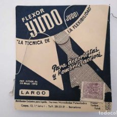 Antigüedades: FLEXOR YUDO JUDO TENSOR BALLENA PARA CUELLOS DE CAMISA EN SU CARTÓN EXPOSITOR. TENSOLAPA FOR SHIRT C. Lote 175740669