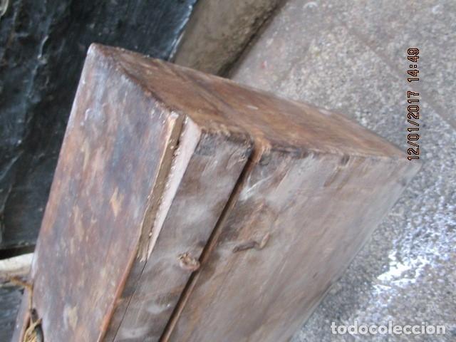 Antigüedades: ANTIGUA CAJA GRANDE DE MADERA PRINCIPIOS DE SIGLO CON CERRADURA - Foto 15 - 175748662