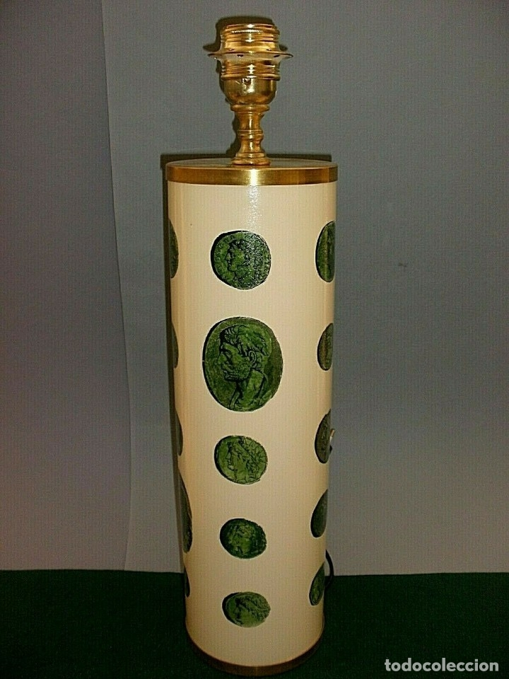 Antigüedades: PIERO FORNASETTI MILANO LAMPARA DE MESA VINTAGE LAMP FIRMADA EXCELENTE ESTADO ITALIA - Foto 2 - 175758099
