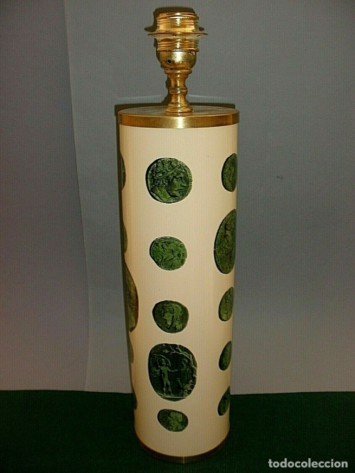 Antigüedades: PIERO FORNASETTI MILANO LAMPARA DE MESA VINTAGE LAMP FIRMADA EXCELENTE ESTADO ITALIA - Foto 3 - 175758099