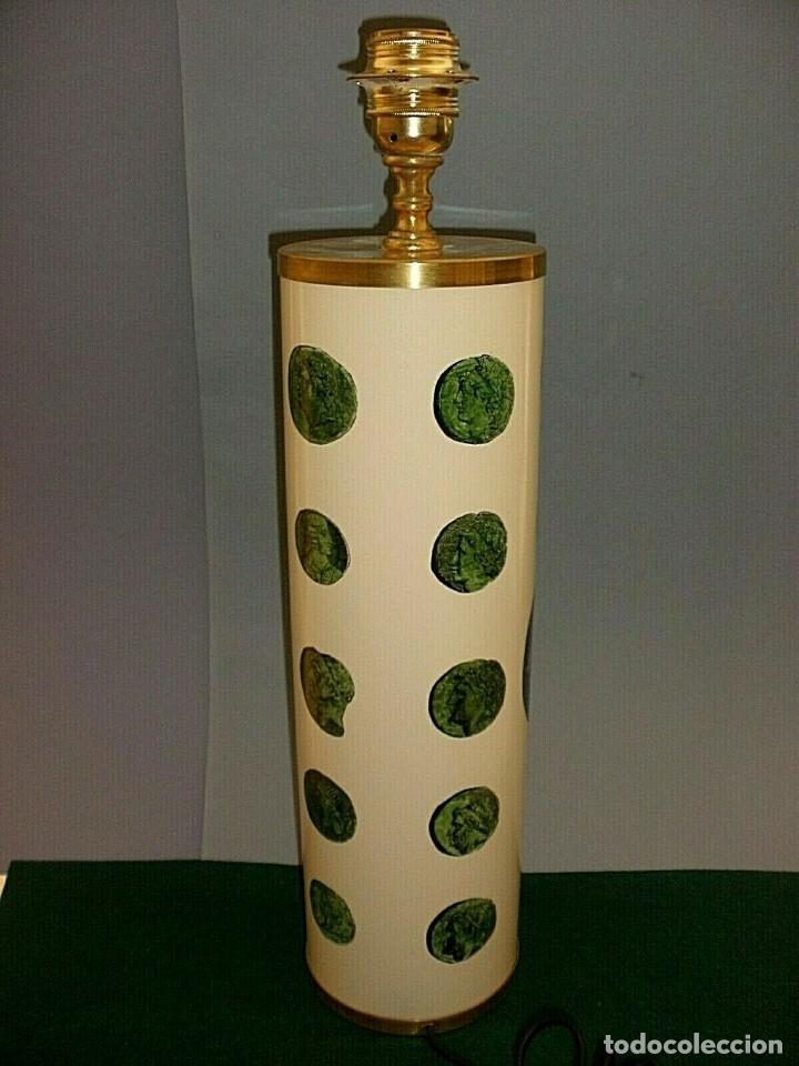 Antigüedades: PIERO FORNASETTI MILANO LAMPARA DE MESA VINTAGE LAMP FIRMADA EXCELENTE ESTADO ITALIA - Foto 4 - 175758099
