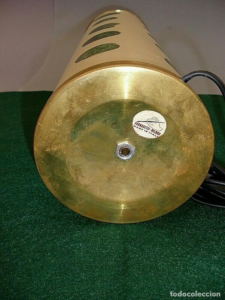Antigüedades: PIERO FORNASETTI MILANO LAMPARA DE MESA VINTAGE LAMP FIRMADA EXCELENTE ESTADO ITALIA - Foto 5 - 175758099