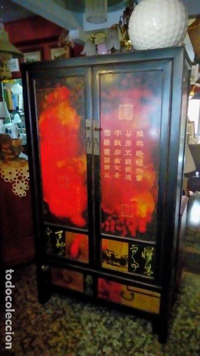 Antigüedades: armario oriental- - Foto 2 - 175763117