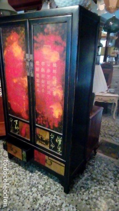 Antigüedades: armario oriental- - Foto 7 - 175763117