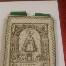 Antigüedades: ANTIGUO ESCAPULARIO DE NUESTRA SEÑORA DE LA CABEZA, PATRONA DE ANDUJAR. 10,50 X 8 CM. Lote 175769384