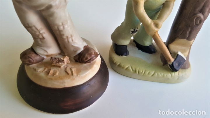 Antigüedades: BONITAS FIGURAS CERAMICA MOTIVOS INFANTIL - 13 Y 16 CM ALTO APROX - Foto 3 - 175771198
