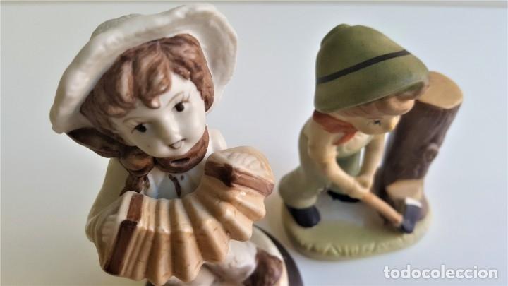 Antigüedades: BONITAS FIGURAS CERAMICA MOTIVOS INFANTIL - 13 Y 16 CM ALTO APROX - Foto 4 - 175771198