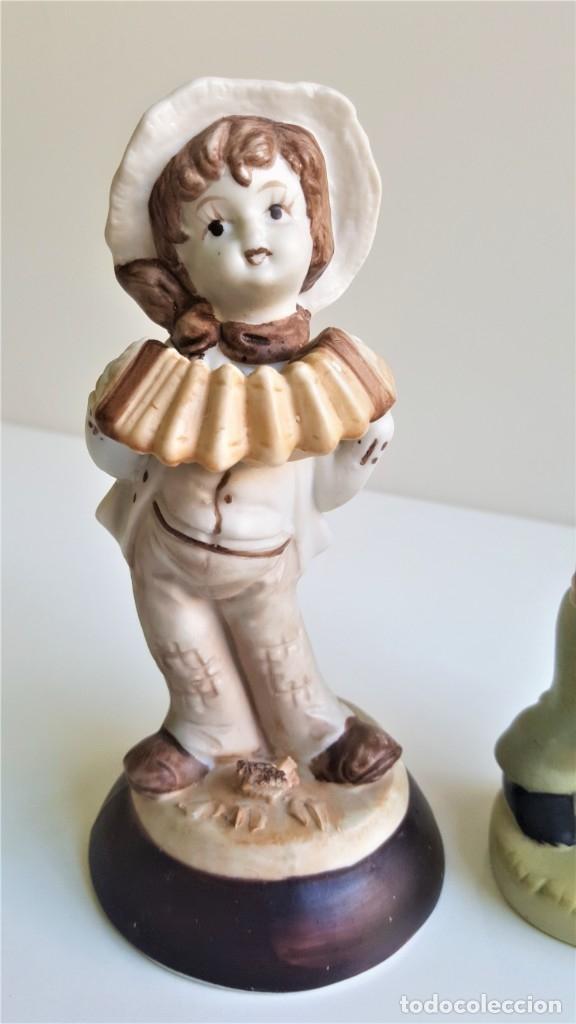 Antigüedades: BONITAS FIGURAS CERAMICA MOTIVOS INFANTIL - 13 Y 16 CM ALTO APROX - Foto 5 - 175771198