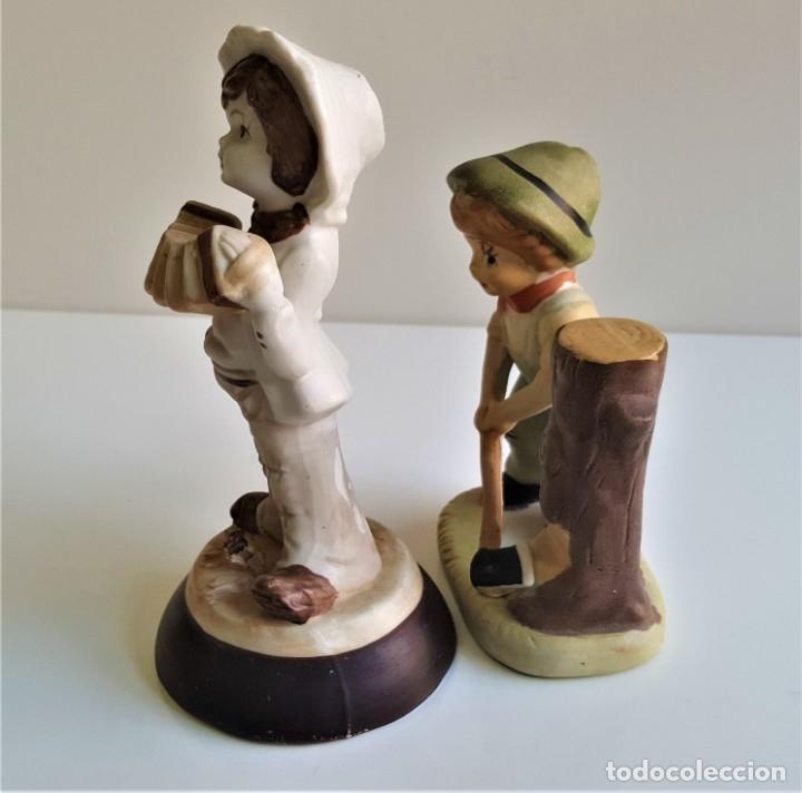 Antigüedades: BONITAS FIGURAS CERAMICA MOTIVOS INFANTIL - 13 Y 16 CM ALTO APROX - Foto 11 - 175771198
